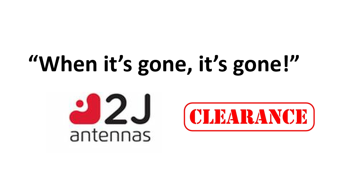 2J Antennas CLEARANCE While Stocks Last
