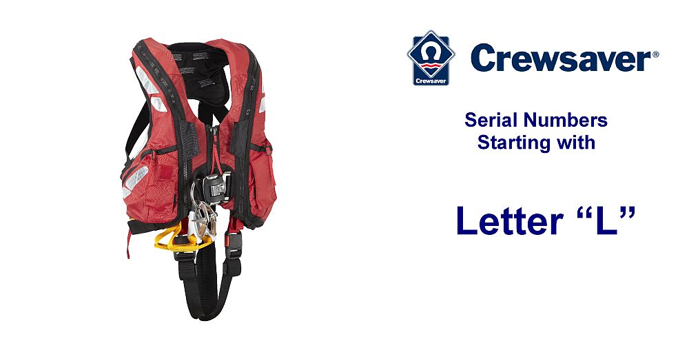 Crewsaver ALB Offshore Spares for Serial Numbers starting with L