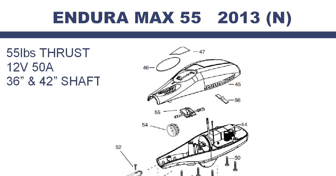 Endura Max 55 - 55lbs 12V 50A 36 & 42
