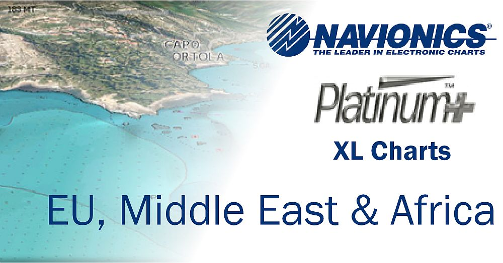 Navionics Platinum+ XL Charts Europe / Middle East / Africa on SD & MicroSD Cards